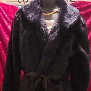NWOT Faux Fur Coat by French Cuff